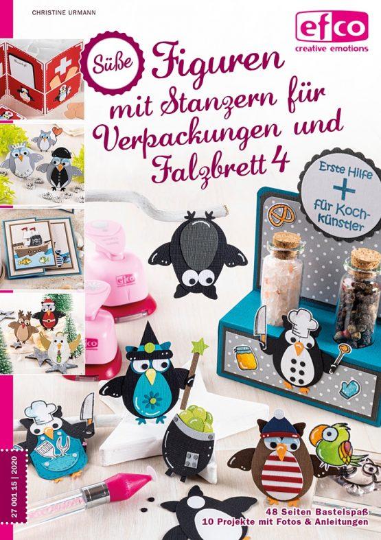 Efco Buch Süße Figuren mit Stanzern für Verpackungen und Falzbrett Teil 4 Eulen