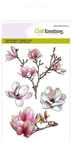 CraftEmotions Clear Stempel Magnolie Frühlingszeit